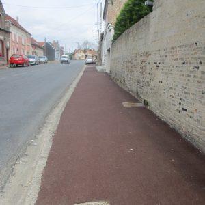 La réfections des trottoirs rue Jean-Baptiste Saint