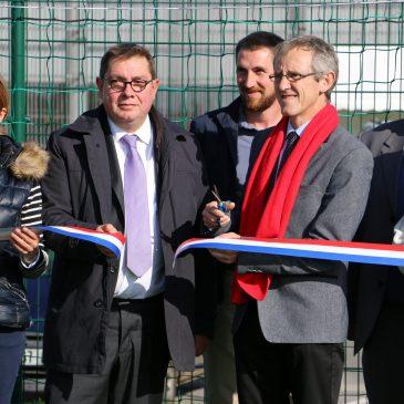 Inauguration du terrain de football synthétique